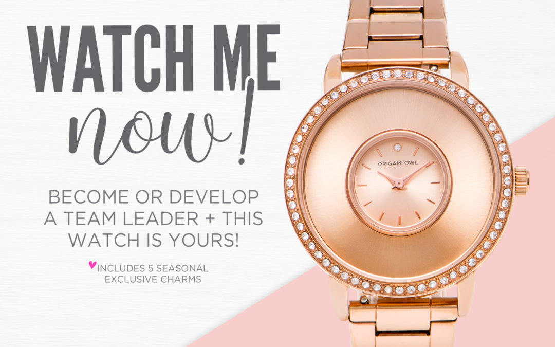 Final Month For Our Watch Me Now Team Leader Promotion
