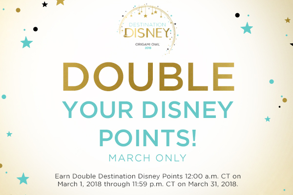 Double Destination Disney Points in March!