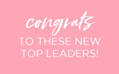 Congrats to These New Top Leaders!