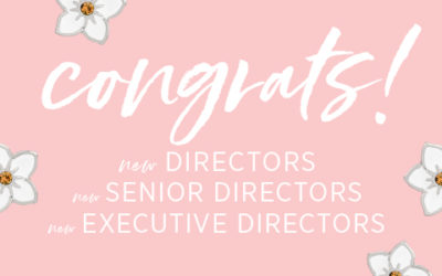 Moving On Up: Meet our 9 New Directors!