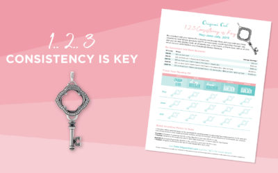 New Monthly Incentive: 1..2..3 CONSISTENCY is KEY