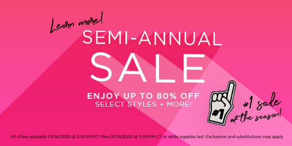 Semi-Annual Sale: Up to 80% Off + Over 35 Items Added!