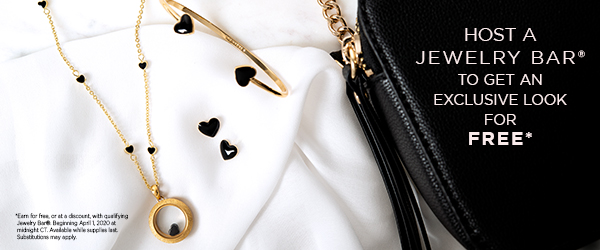 Coming April 2020: NEW! Petite Gold Black Enamel Heart Living Locket Set