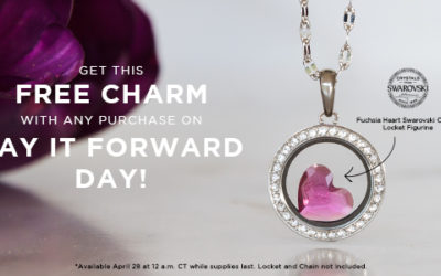 Get a FREE Fuchsia Heart Swarovski® Crystal Locket Figurine With Purchase on Pay It Forward Day