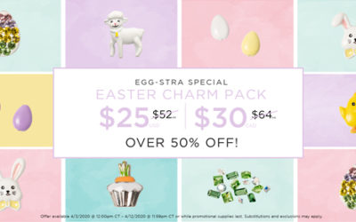Oh HOPPY Day! EGG-stra Special Limited Edition Easter Charm Pack 50 Percent Off