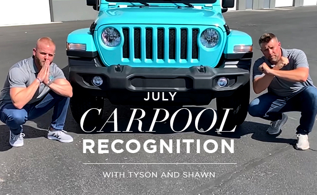 July Special Convention Carpool Recognition with Shawn + Tyson