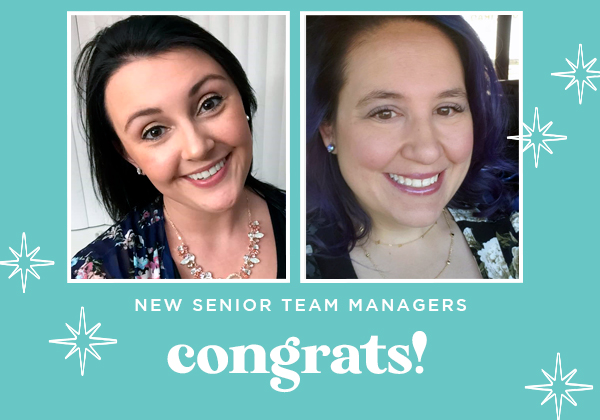 Hooray! They're New Senior Team Managers