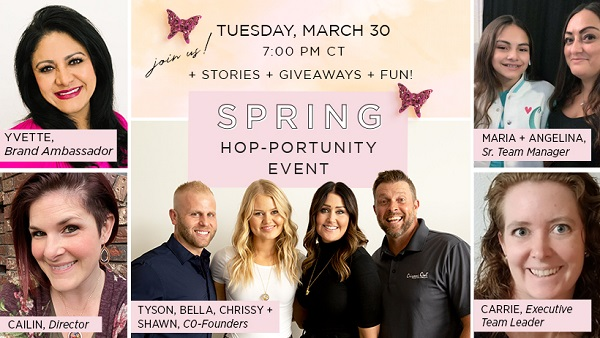Virtual Power Hour + Spring HOP-Portunity Event – Monday, March 29 + Tuesday, March 30
